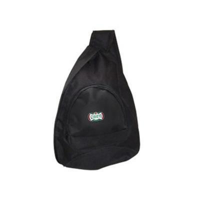 Ato Produtos Promocionais - Mochila transversal em poliéster com bolso frontal, confeccionada em Poliester - Dim. 32cm(L) x 44cm(A)