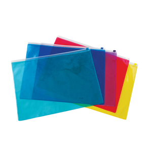 ato-produtos-promocionais - Pasta zip em PVC cristal colorido.