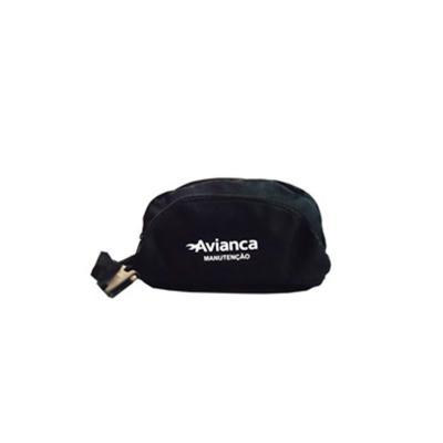 Ato Produtos - Pochete de nylon com 2 bolsos e gravação personalizada.