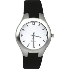428e89a7080 Relógio de pulso em caixa redonda em aço escovado com pulseira de ...