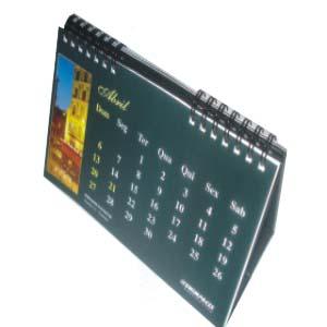 Calend rio de mesa com acabamento em wire o e impress o personalizada sua empresa marcando o - Plantilla calendario de mesa ...