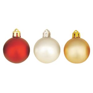 Brinde Natalino - Bola de Natal nos di�metros de 30mm at� 120 mm, com pintura Fosca em diversas cores