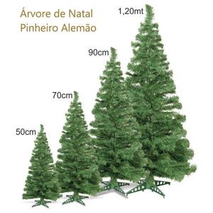 Brinde Natalino - Árvore de Natal Pinheiro Alemão, nas cores verde ou branco, nos tamanhos 50cm, 70cm, 90cm e 120cm