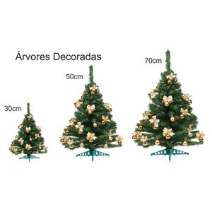 Brinde Natalino - Árvores de Natal Decoradas com 30cm / 50cm / 70cm