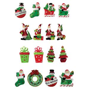 brinde-natalino - Íma de Natal para geladeira, em Poliresina