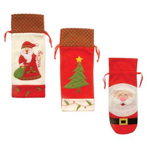 brinde-natalino - Porta garrafa decorada