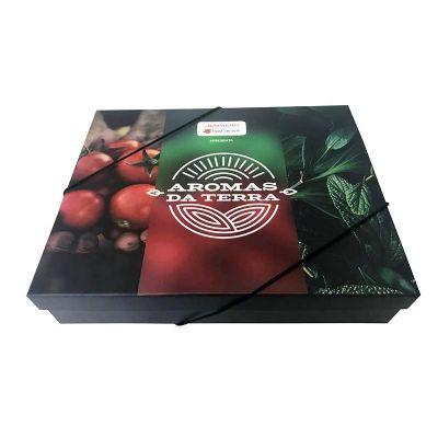 Encaixe - Caixa kit personalizada de tampa solta e com elástico