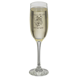 Taça de vidro para espumante PM Imperatriz 200 ml personalizada