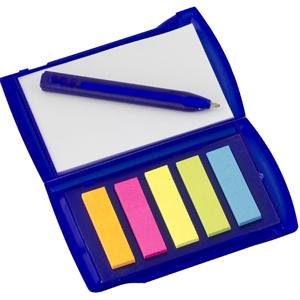 Print Maker - Bloco de anotações com sticky notes e caneta.