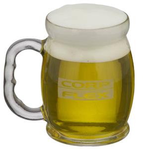 Caneca de chopp em vidro modelo Bar Brasil 500 ml personalizada