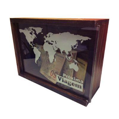 Cofre de madeira personalizado - Moeda da sorte - Print Maker