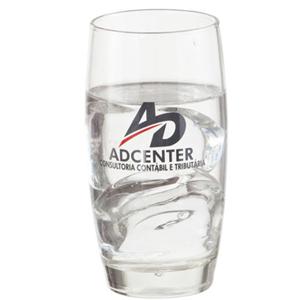 Copo de vidro para água modelo PM Oca 400 ml.