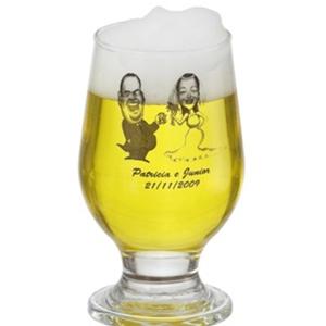 Copo de vidro para cerveja modelo PM Paulista.