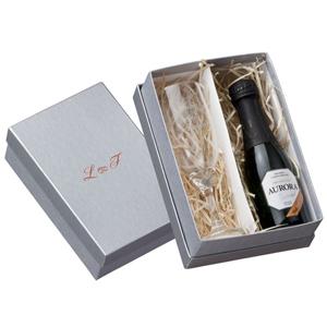 print-maker - Kit champagne com 1 taça de vidro e 1 espumante Aurora 187 ml.