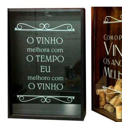 Quadro porta rolhas de vinho - Print Maker