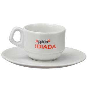 print-maker - Xícara de porcelana para café, modelo Empilhável, capacidade 80 ml.