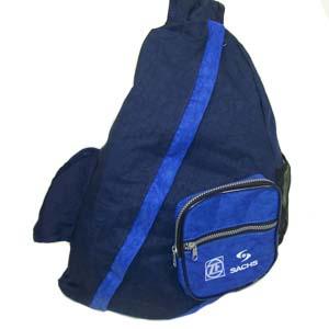 czk-confeccoes - Bolsa mochila transversal personalizada em nylon estonado.