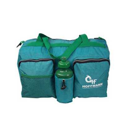 Bolsa de Viagem Personalizada em Nylon Estonado, com Bolso Principal, 2 Bolsos Frontais e Porta Squeeze