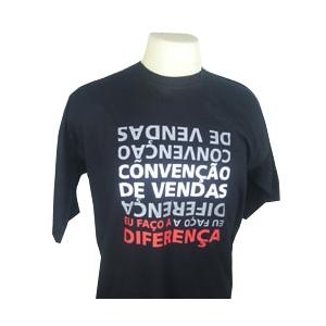 CZK brindes - Camiseta Preta Personalizada - Gama Costas.