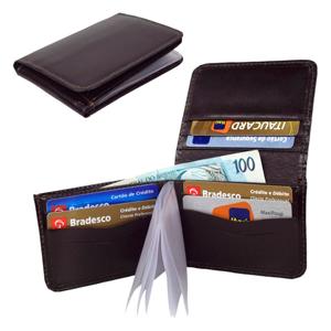 CZK brindes - Carteira Porta Cartão Personalizada Pequena.