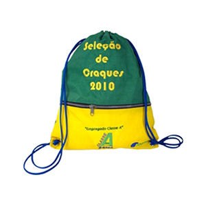 CZK brindes - Saco mochila personalizado em nylon