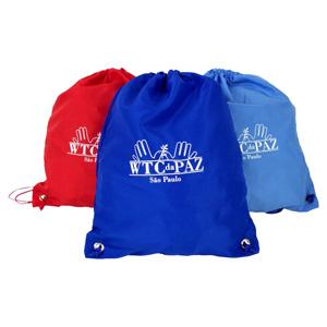 CZK brindes - Saco mochila personalizado.