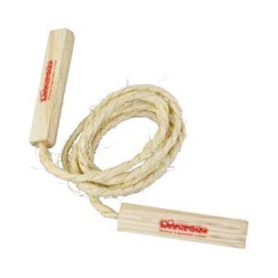 Pula corda de sisal com cabo de madeira 2 m.