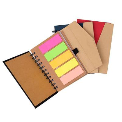 Bloco de anotação ecológico com sticky notes e suporte para caneta - Comercial Sister's