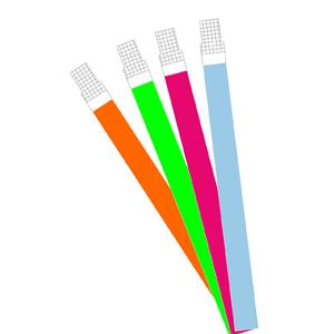 Pulseiras para Identificação,Inviolável em cores variadas.