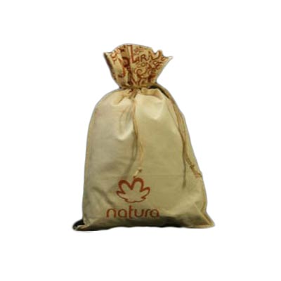 Embalagem - Embalagem personalizada em algodão cru, com logo na boca e no corpo do saquinho e com cordão em corda de juta. Pode-se alterar cor, material e tamanho...