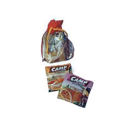 Embalagem personalizada em PVC com boca em TNT. Pode-se alterar cor, material e tamanho.