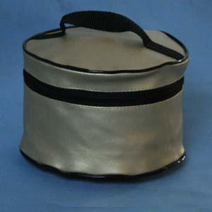 Embalagem - Necessaire redonda personalizada. Pode-se alterar cor, material e tamanho.