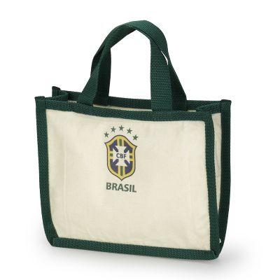Embalagem - Sacola personalizada em algodão cru ecológico, com detalhe de viés externo e zíper. Pode ser feito em qualquer tamanho, tecido e cor.