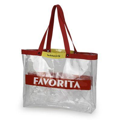 Embalagem - Sacola de Promotora transparente.