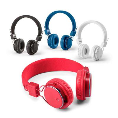marca-laser - Fone de ouvido dobrável ajustável em ABS com estrutura almofadada. Modelo sem fio com transmissão por bluetooth e leitor de cartões micro SD. Autonomi...