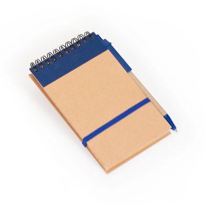 marca-laser - Bloco de anotações com capa em papel reciclado