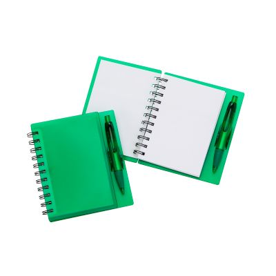 marca-laser - Caderneta capa verde.