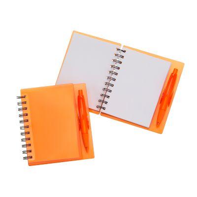 marca-laser - Caderneta capa laranja.