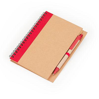 marca-laser - Caderneta de anotações com capa em papel reciclado 80 folhas em papel Kraft pautado