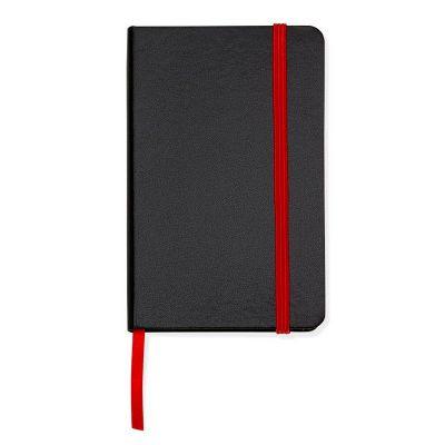 Marca Laser - Caderneta de anotações capa preta (80 folhas) - vermelho