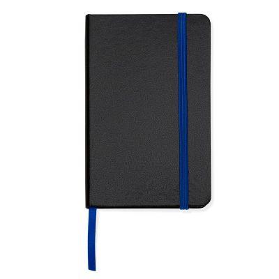 Marca Laser - Caderneta de anotações capa preta (80 folhas) - azul