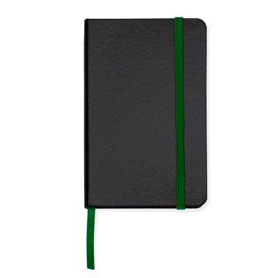 marca-laser - Caderneta de anotações capa preta (80 folhas) - verde