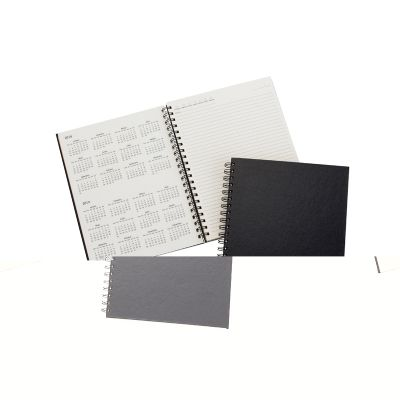 marca-laser - Caderno/ Agenda personalizada com capa de bambu médio.