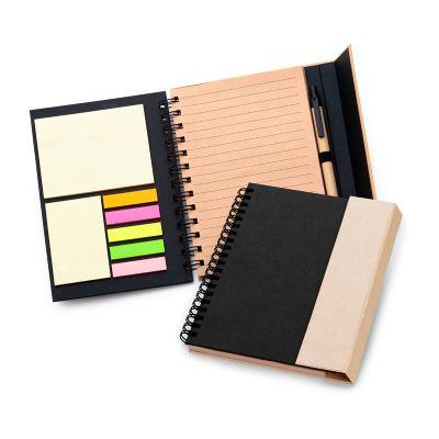 marca-laser - Caderno de anotações personalizado, em espiral capa dura, fechamento através de ímã na aba externa.