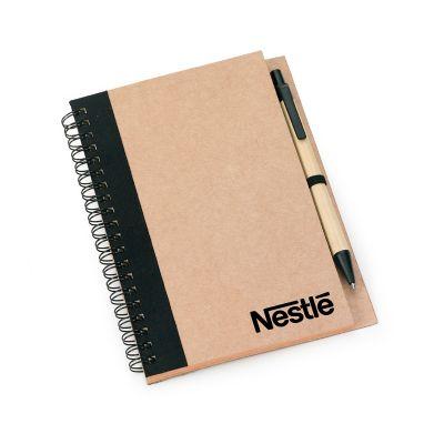 marca-laser - Caderno de anotações espiral em papel reciclado
