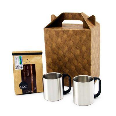 Marca Laser - Conjunto com 2 canecas 200ml + café 250 gramas