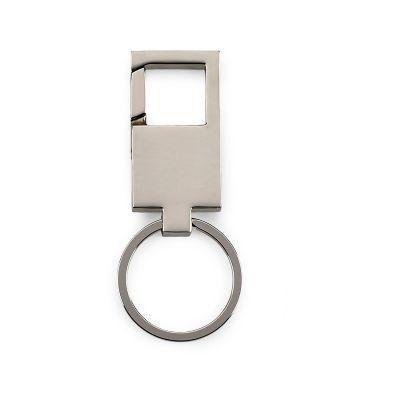 marca-laser - Chaveiro retangular personalizado em metal tipo mosquetão.