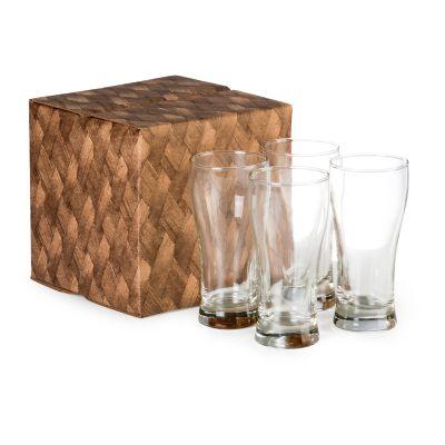 Marca Laser - Conjunto com 4 copos de vidro para cerveja 200ml
