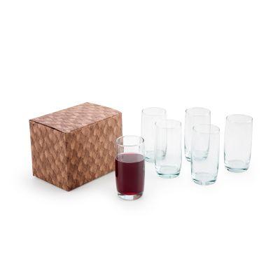 Marca Laser - Conjunto com 6 copos de vidro para água 440ml