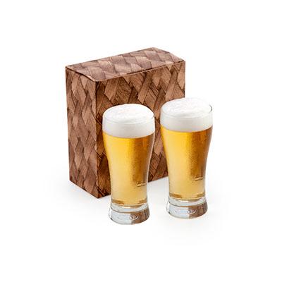 Marca Laser - Conjunto com 2 copos de vidro para cerveja 200ml